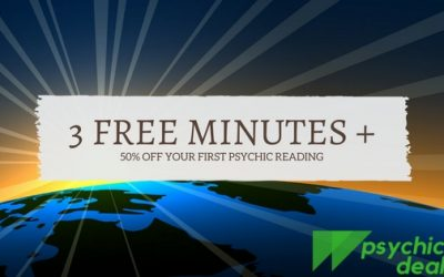 Psychic Reading with 3 Free Minutes plus 50% off