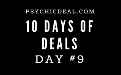 Ten Days of Deals (Day #9): Receive a 10-minute reading for $1.99, plus an additional 3 Free Minutes.